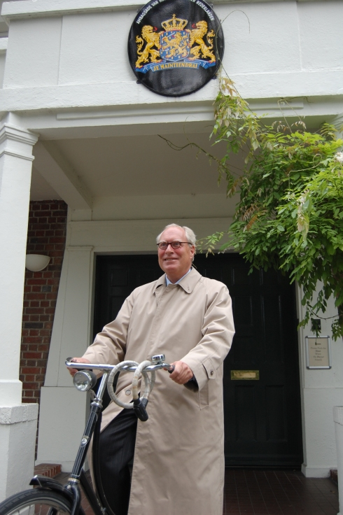 Dutch ambassador Mr Robert engels in front of Dutch embassy in Dublin