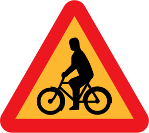 Dutch bicycle sign