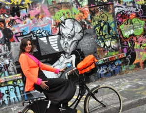 Cycling near Windmill Lane